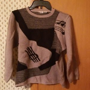 Rodier Abstract Musical Knit Sweater